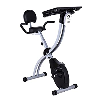 Amazing Pinty Folding Adjustable Desk Exercise Bike Workstation With Tablet Holder And Standing Desk Beutiful Home Inspiration Papxelindsey Bellcom