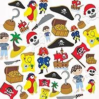 Baker Ross Adesivi in Schiuma con Pirati Ideali per Decorare e Personalizzare Bigliettini, Creazioni Fai Da Te e Collage (confezione da 96)