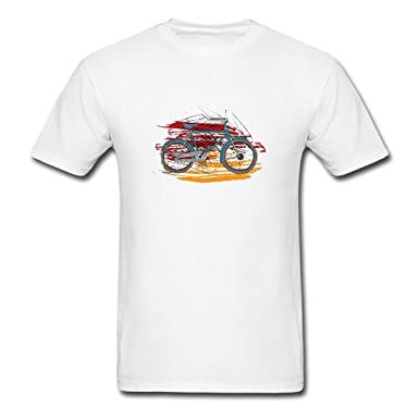 f0d7fa7d4 Hoeeney Bikes Bicycles Rideable Art Men Graphic Tees O Neck T Shirts Size S  White