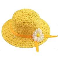 YUEMING Sombrero de Sol para niños,Sombrero al Aire Libre para niños,Sombrero de Paja de ala Ancha Verano Gorra Sombrero…