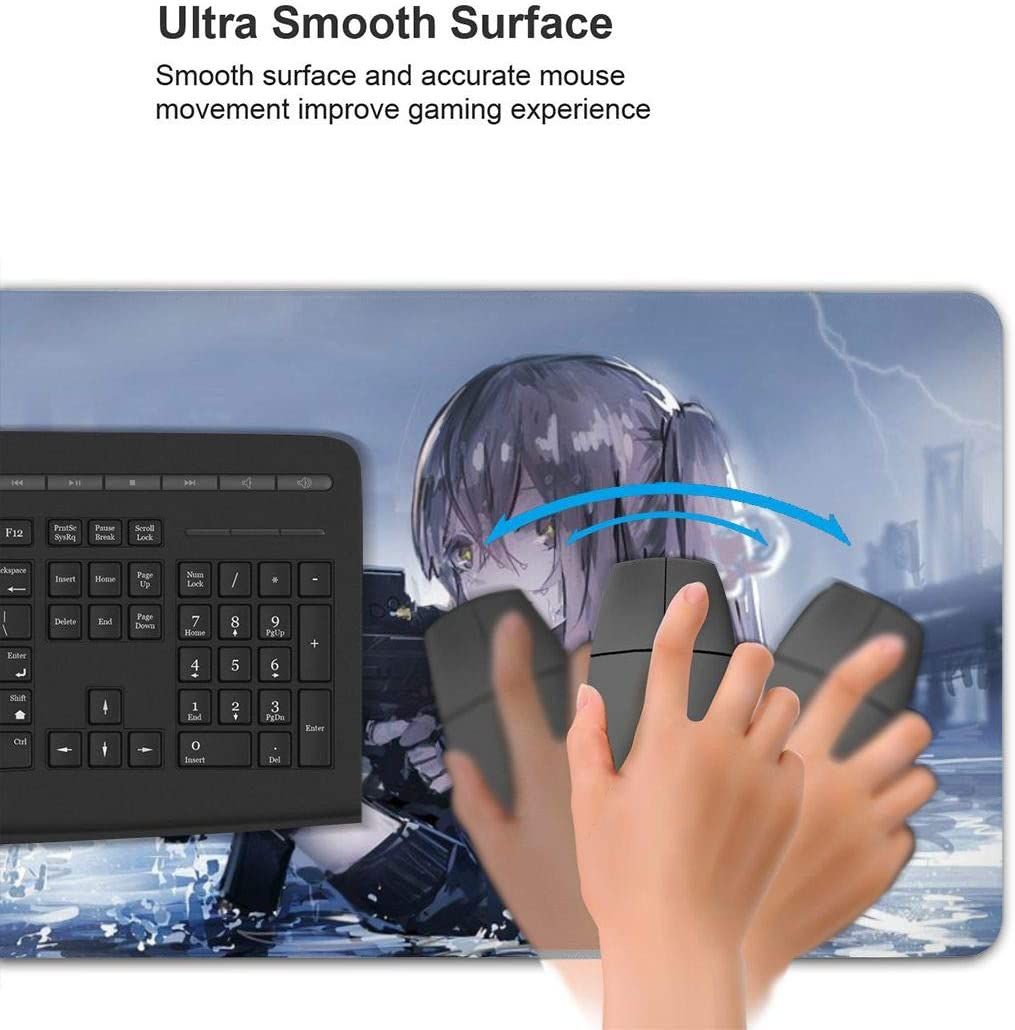 Anime Girls Frontline Operation Heavy Weapons 15.8x29.5 in Large Gaming Mouse Pad Desk Mat Long Non-Slip Rubber Stitched Edges