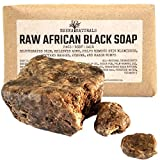 Cleansing Water Homemade - Raw African Black Soap Bar with Shea Butter 1 Pound - Face, Body Wash, Dandruff Shampoo, Moisturizer, Toner, Acne Prone, Skin Moisturizer for Eczema, Clarifying Mud Mask, Natural from Ghana
