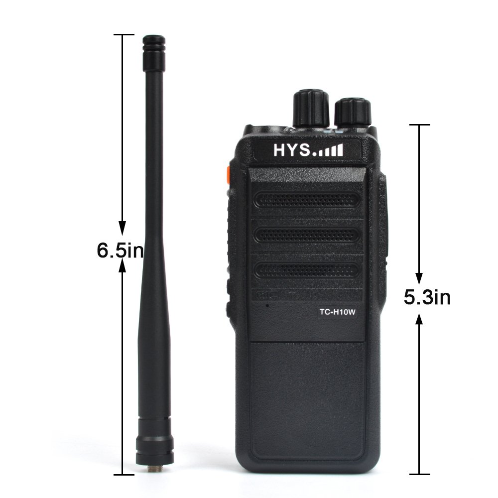 HYS Radios UHF 70CM 10 Watt Ham Radio 400-520 MHz Commercial Series TC-H10W Two Way Radio Long Distance 16 Channel Walkie Talkie 2 PCS
