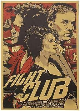 Wall Sticker Fight Club Kraft Paper Poster Movie Vintage Paper Poster Retro