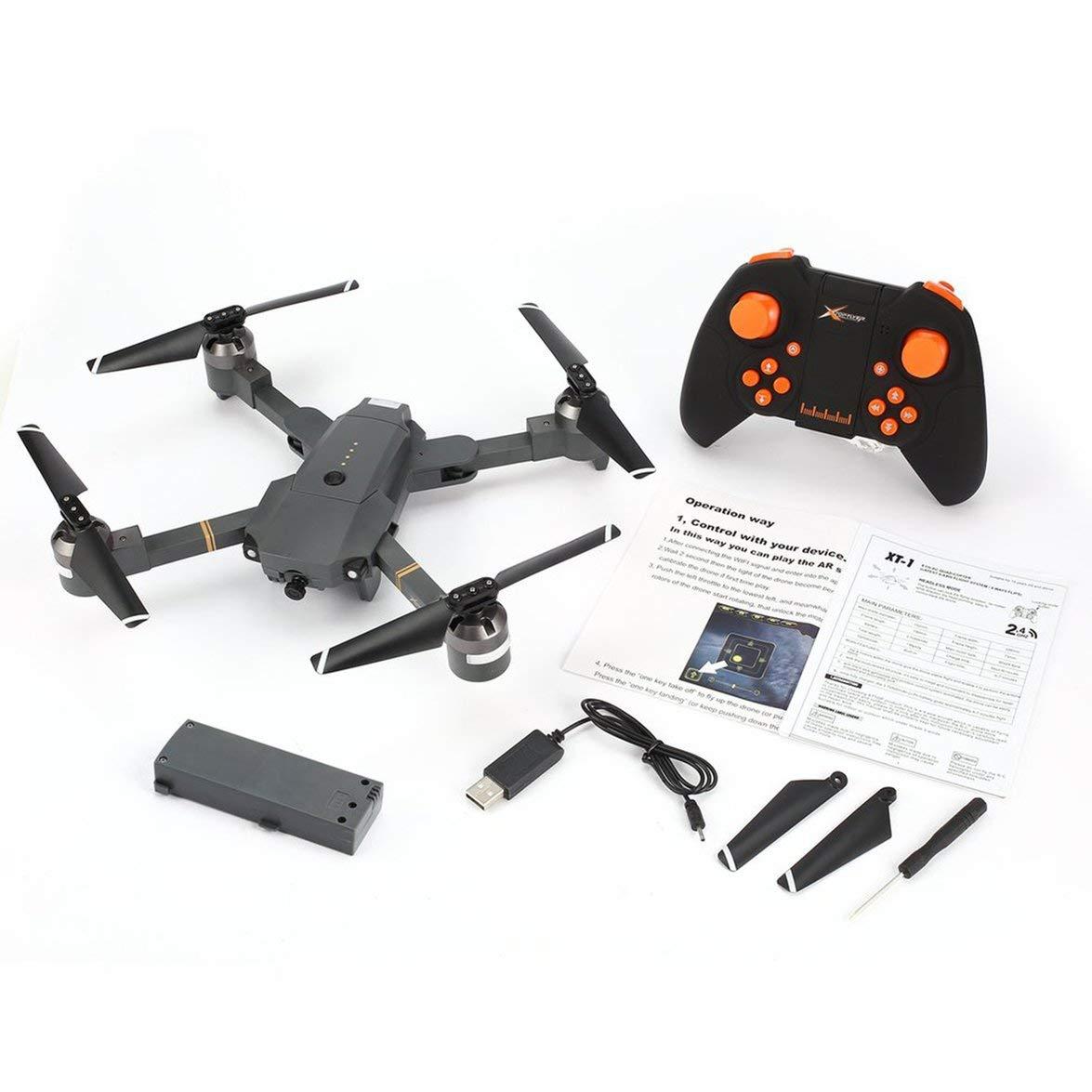 Kongqiabona Attop Attop Attop XT-1 2,4 GHz 6-Achsen-Gyro Faltbare Drohne Wi-Fi 2MP HD Kamera FPV RC Quadcopter mit Headless-Modus Höhe halten 3D-Flips 06f377