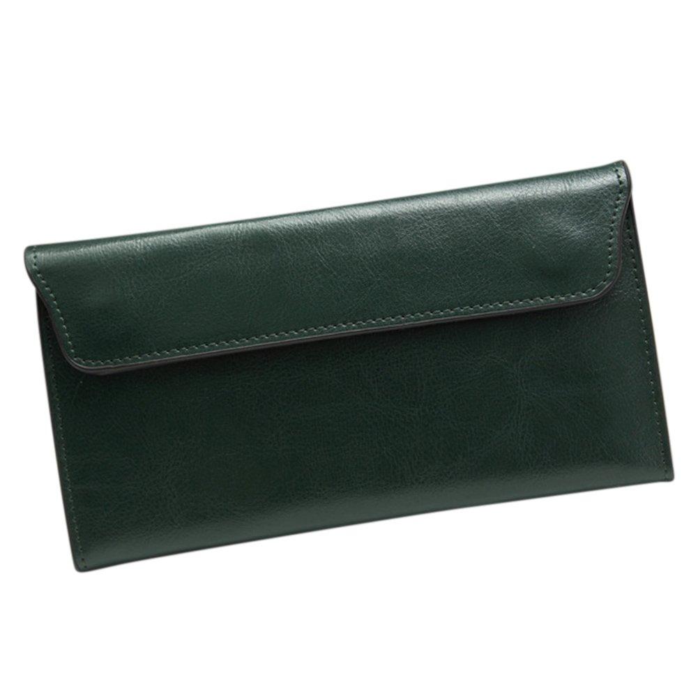 4688711d3c5d Fashion Genuine Leather Women Wallet Cowhide Long thin Purse Lady ...