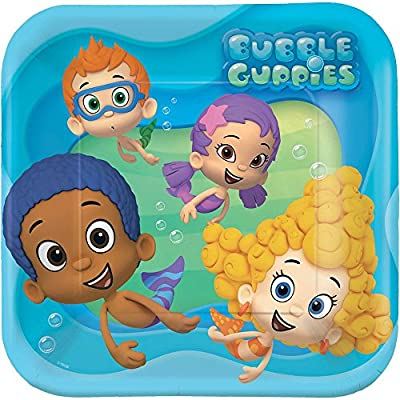 amscan Bubble Guppies Dinner Plates: Toys & Games