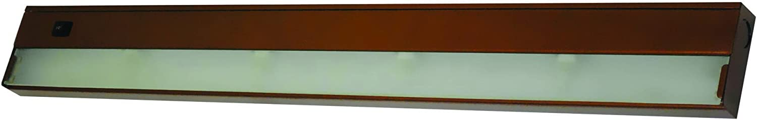 Yosemite Home Decor AM-XN04BZ 4 Light Under Cabinet Xenon Light, Bronze Finish with Frosted Glass Diffuser