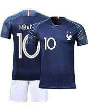 da11b7cf5a TUUT Maillots de Sport Garçon Football T-Shirt et Short France 2 Étoiles  Vêtements de