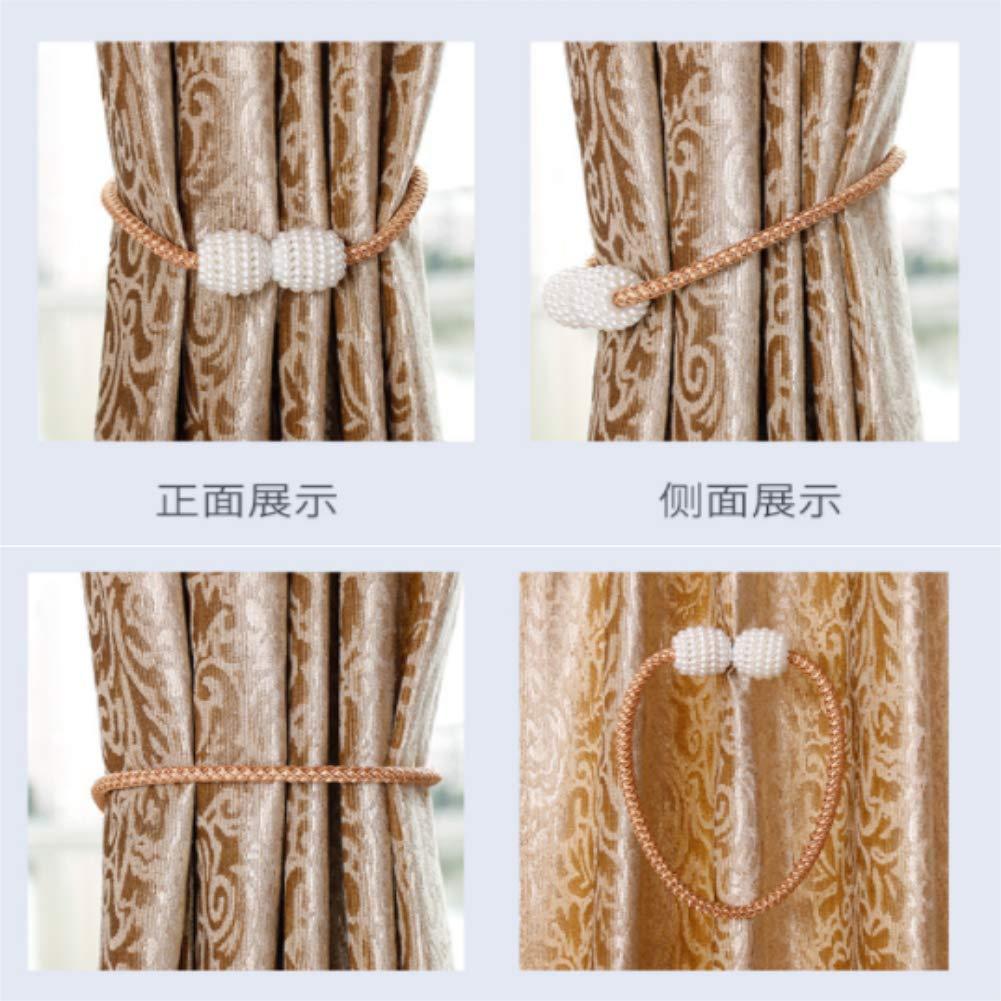 Coffee JJ.Accessories fermatenda 2pcs Ufficio con Perle 2 fermatenda magnetici finestre per Decorazione di casa