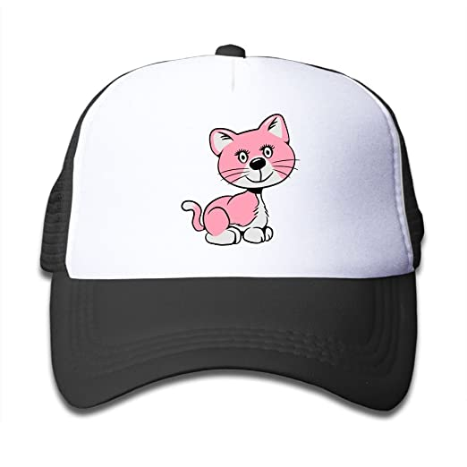 fba8645f8fb Amazon.com  Girls Pink Baby Cat Cute Adjustable Hip Hop Snapback Hats   Clothing