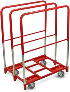 """product image for Raymond 3854 Steel Panel Mover with 3 Extra Tall Upright and 5"""" x 2"""" Quiet Poly Caster, 2400 lbs Capacity, 38-1/2"""" Length x 27-1/2"""" Width"""