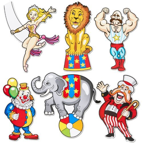Price comparison product image Fun Express Carnival Cutouts Party Supplies