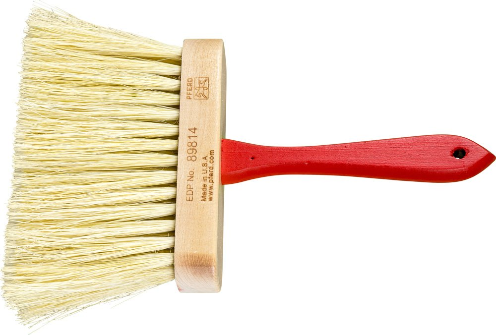 PFERD 89814 Masonry Brush, White Tampico Filament, 6-1/2'' Block Length x 2'' Block Width, 4'' Trim Length, 5 Rows (Pack of 12)