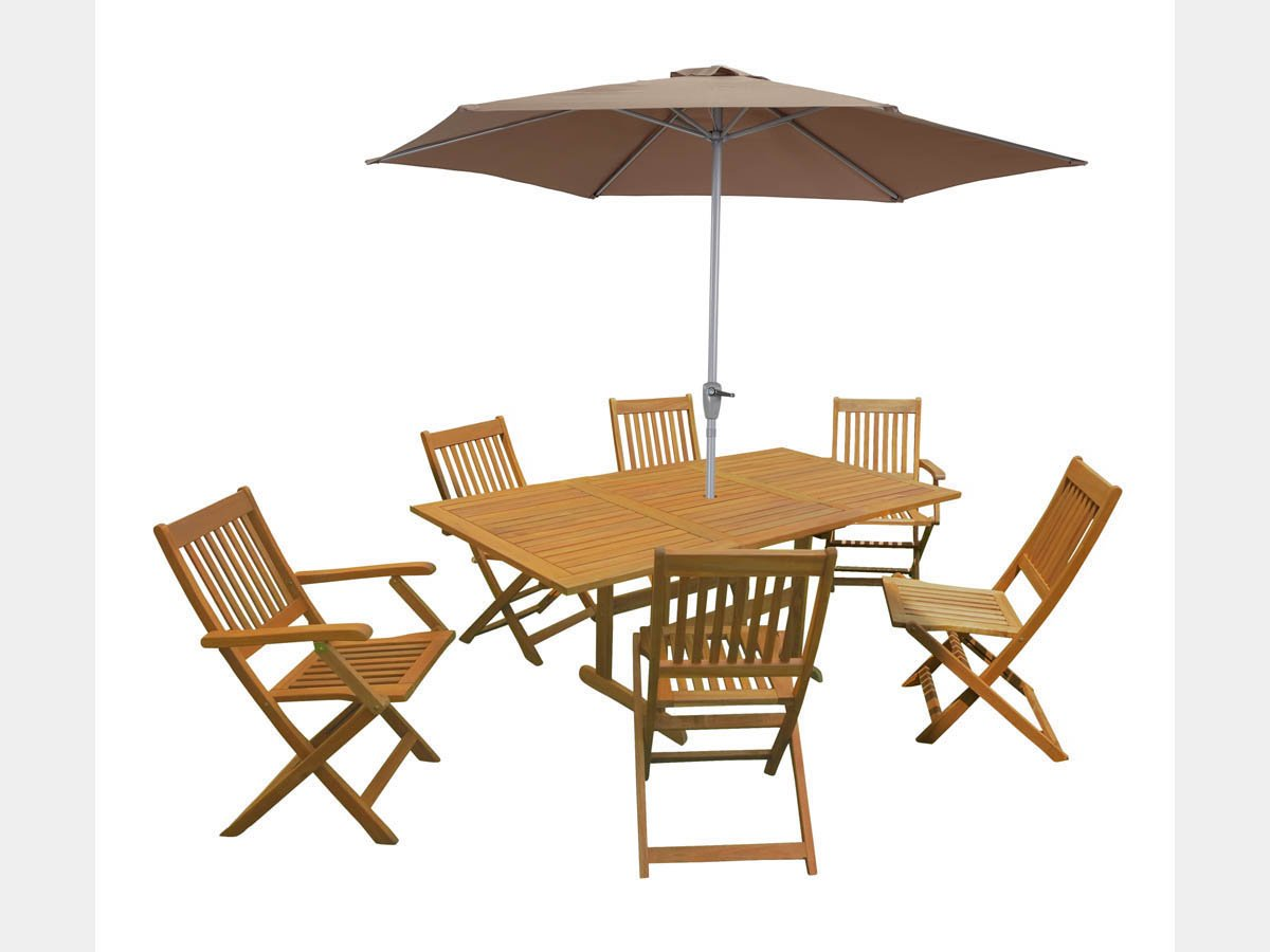 Viva Green – Gartenmöbel, aus exotischem Holz Osaka – Bali – 1 Tisch ...