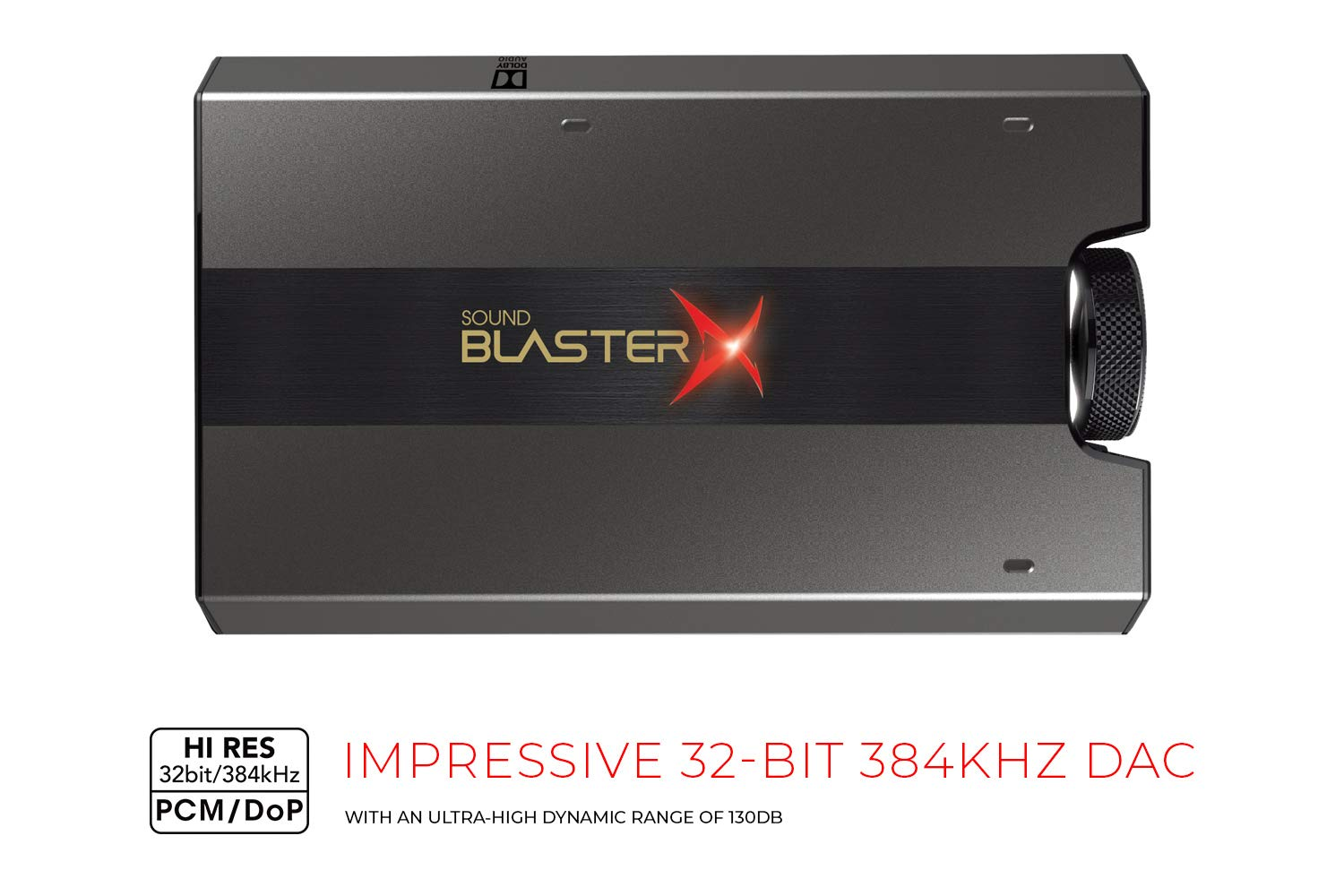 Sound BlasterX G6 Hi-Res 130dB 32bit/384kHz Gaming DAC, External USB Sound  Card with Xamp Headphone Amp, Dolby Digital, 7 1 Virtual Surround Sound,