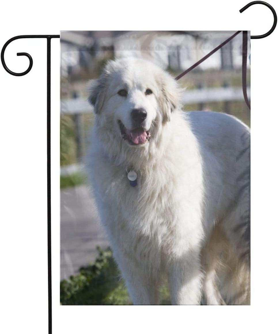 LQLDHJ Great Pyrenees Garden Flag Stand Banner Outdoor Decor for Homes Gardens 12 X 18 Inches