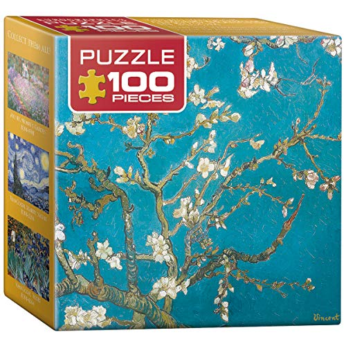 EuroGraphics Almond Tree Branches in Bloom by Vincent Van Gogh Mini Puzzle (100-Piece)