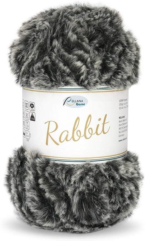 Rellana 100 g Rabbit Wool 15 100/% polyester wool fluffy yarn cuddly wool plush yarn