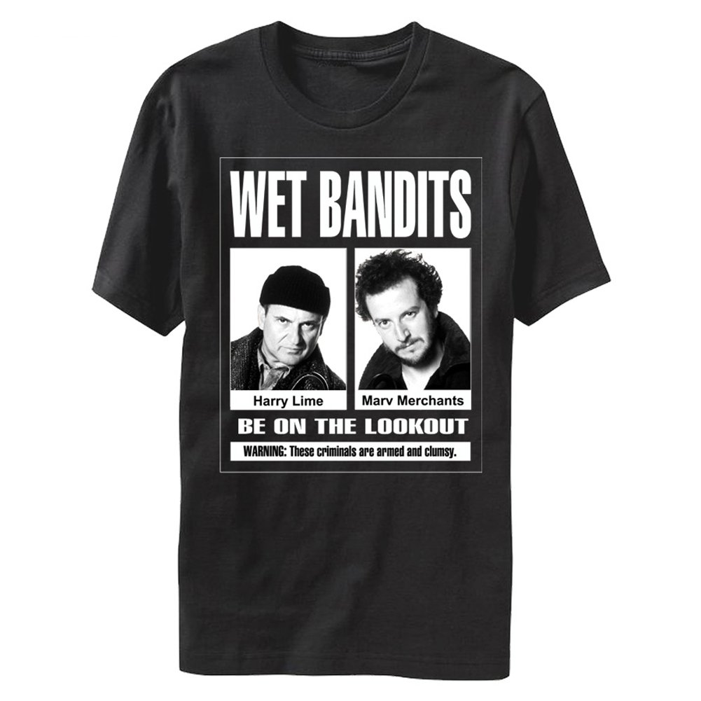 Home Alone Wet Bandits Be On The Lookout Comedy Movie Unisex Tshirt Tee