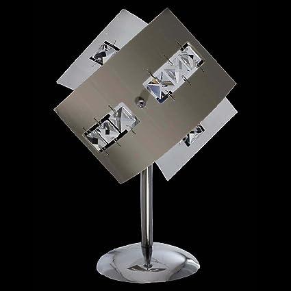 Abat jour lume lampada moderna in cristallo e plexiglass colorato 1 Luce  per camera da letto