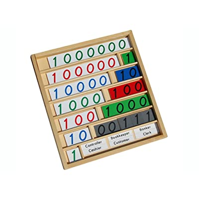 LEADER JOY Montessori Math Materials Bank Game for Preschool Early Learning Tool: Toys & Games