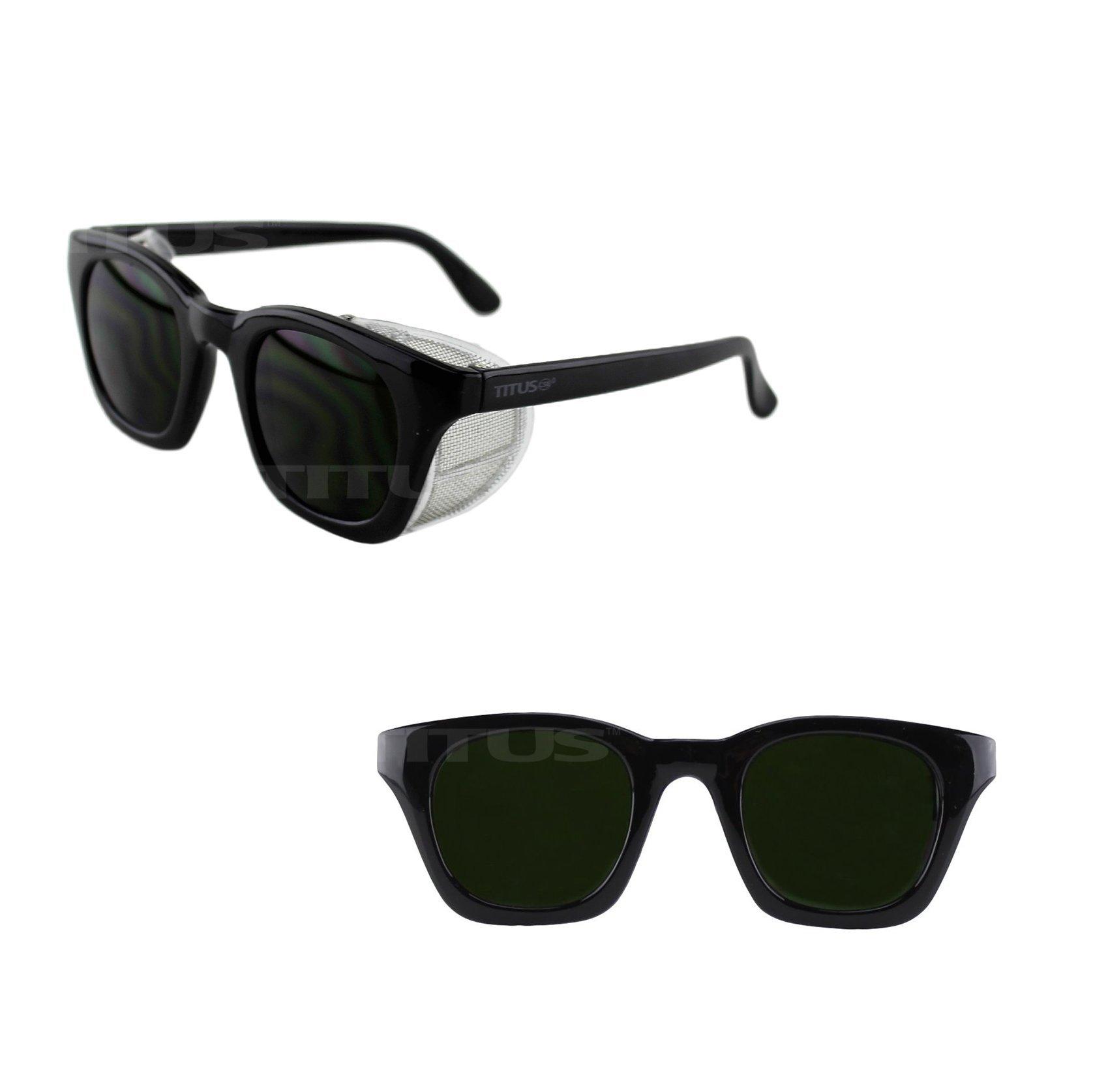 Titus Retro Style IR Welding Safety Glasses (Standard, IR 5)