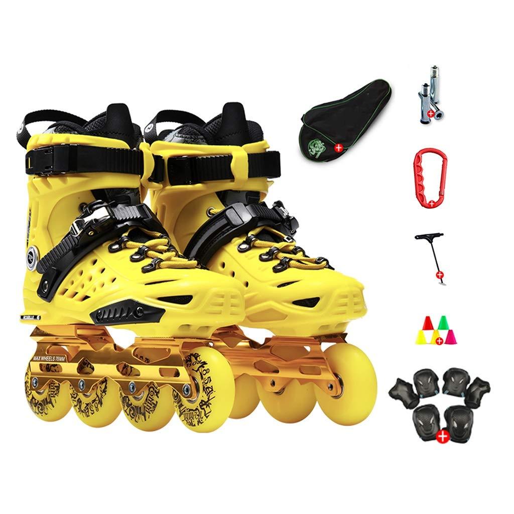 LXP Inline Skates Erwachsene Anfänger-einzelne Reihen-Rochen, Beruf Extravagante Extravagante Extravagante Inline-Rollen-Schuhe, Antikollisions-Dämpfung, Breathable, 2 Farben Professionelle Skates mit hoher Konfiguration B07QPF8GQD Inline-Skates Online 1ec509
