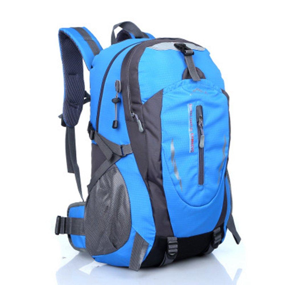 Bigアウトドアキャンプハイキングバックパックバッグスポーツサイクリング登山バッグ旅行用 B078TVNCF7  スカイブルー