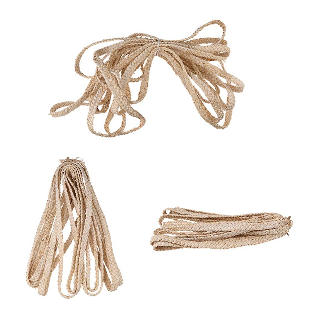 MagiDeal Treccia di Graniglia di Mais Nastro di Paglia per la Produzione di Sandali Artigianato - 2.5 cm hlGBbJm6J