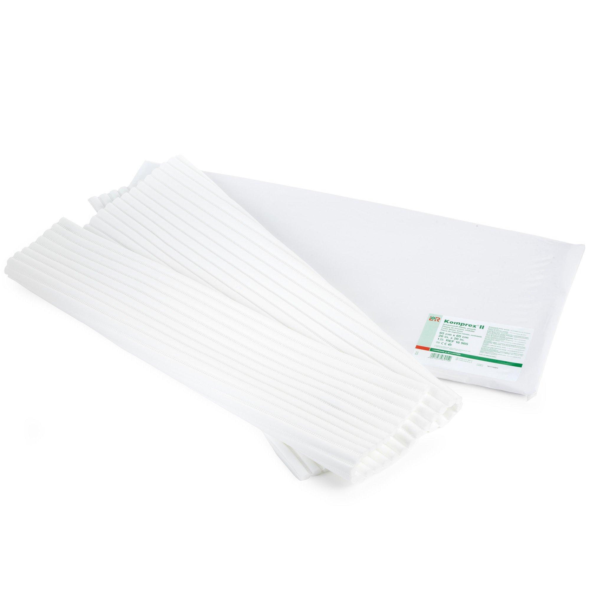 Komprex II Sheet, Channel Foam Dressing for Lymphedema, Spaghetti Foam with Polyester Outer Layer & Open Cell Foam Rubber Core, 25.7 (65 cm) Square Sheet