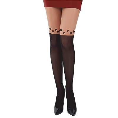 Farell Paris Women Thigh High Fancy Long Socks Over Knee at Women's Clothing store