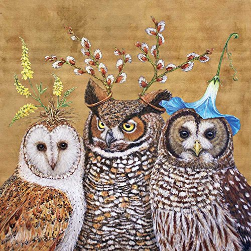Paperproducts Design Owl Family Vicki Sawyer Luncheon Paper Napkins (20 Pack), 6.5