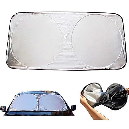 Amazon.com  Auto Car Front Rear Window Foldable Visor Sun Shade ... 123a09395e9