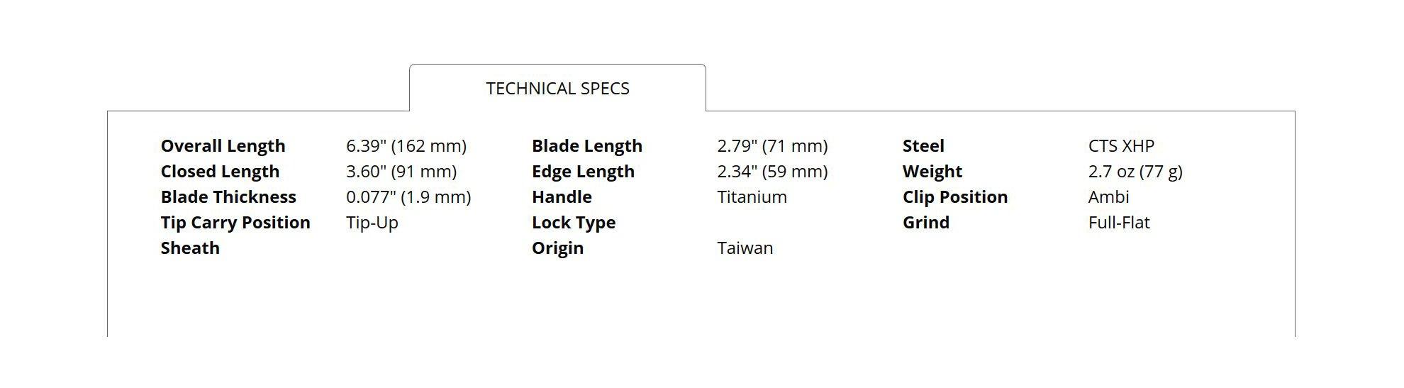 Spyderco C152STIBLP Chaparral Stepped Titanium Folding Knife, Blue, 2.79-Inch