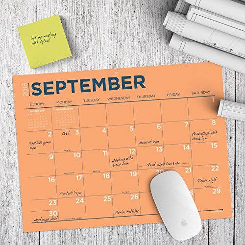 TF Publishing 19-8548A July 2018 - June 2019 Color Collection Mini Desk Pad Calendar, 12 x 9'', Multi Colored by TF Publishing (Image #4)