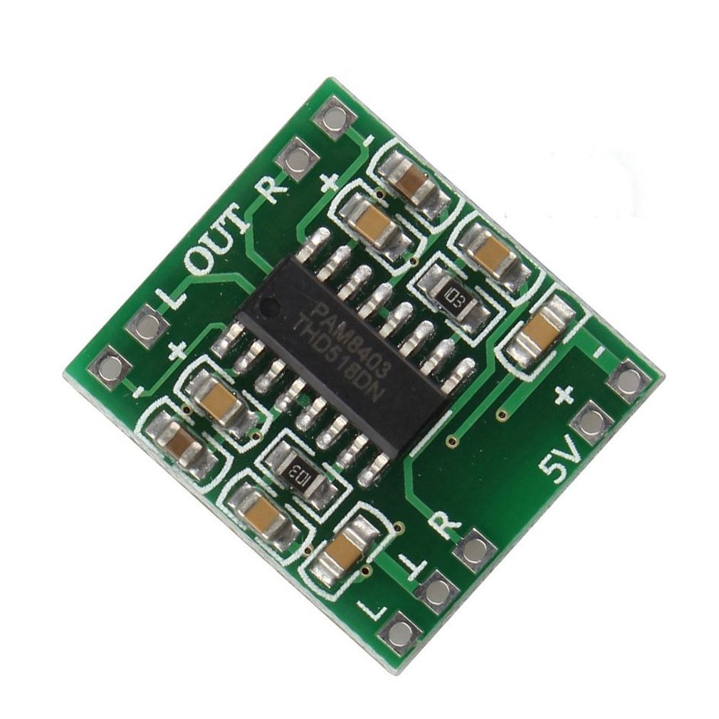 HiLetgo 10pcs Super Mini PAM8403 Digital Power Amplifier Board 2*3W Class D 2.5-5V USB Power 3-01-0114