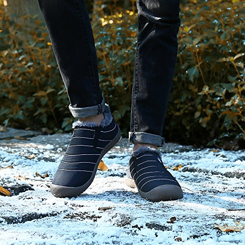 Invernali Basso Stivali Collo Saguaro Scarpe Donna Caviglia Uomo Piatto Nero Caldo Stivaletti Outdoor Botas q74xEt4P