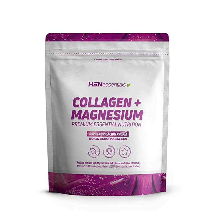 Colágeno Hidrolizado con Magnesio de HSN Essentials | Origen Bovino | Con Vitamina C | Cuidado ...
