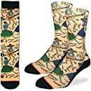 Good Luck Sock Men's Day of the Dead Crew Socks - Yellow, Adult Shoe Size 8-13