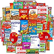 Cookies, Chips, Candy Snacks Box (40 Count) – Variety Care Package Gift Pack – Assortment Bundle for College Students, Military, Offices, Boys, Girls, Child Easter Basket Fillers Stuffers Kids, Young