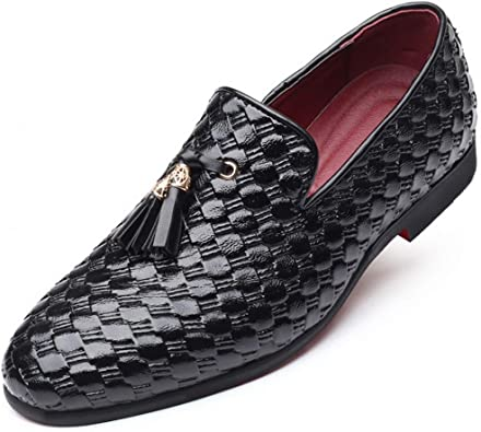 Zapatos de Vestir para Hombre Borlas de Cuero Mocasines Oxford ...