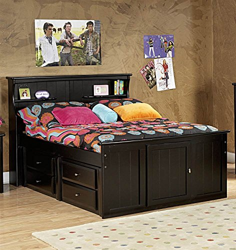 - Chelsea Home Full Bed with Bookcase Headboard and Storage