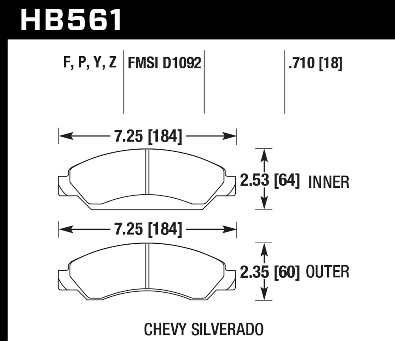 Hawk Performance HB477Y.610 LTS Brake Pad