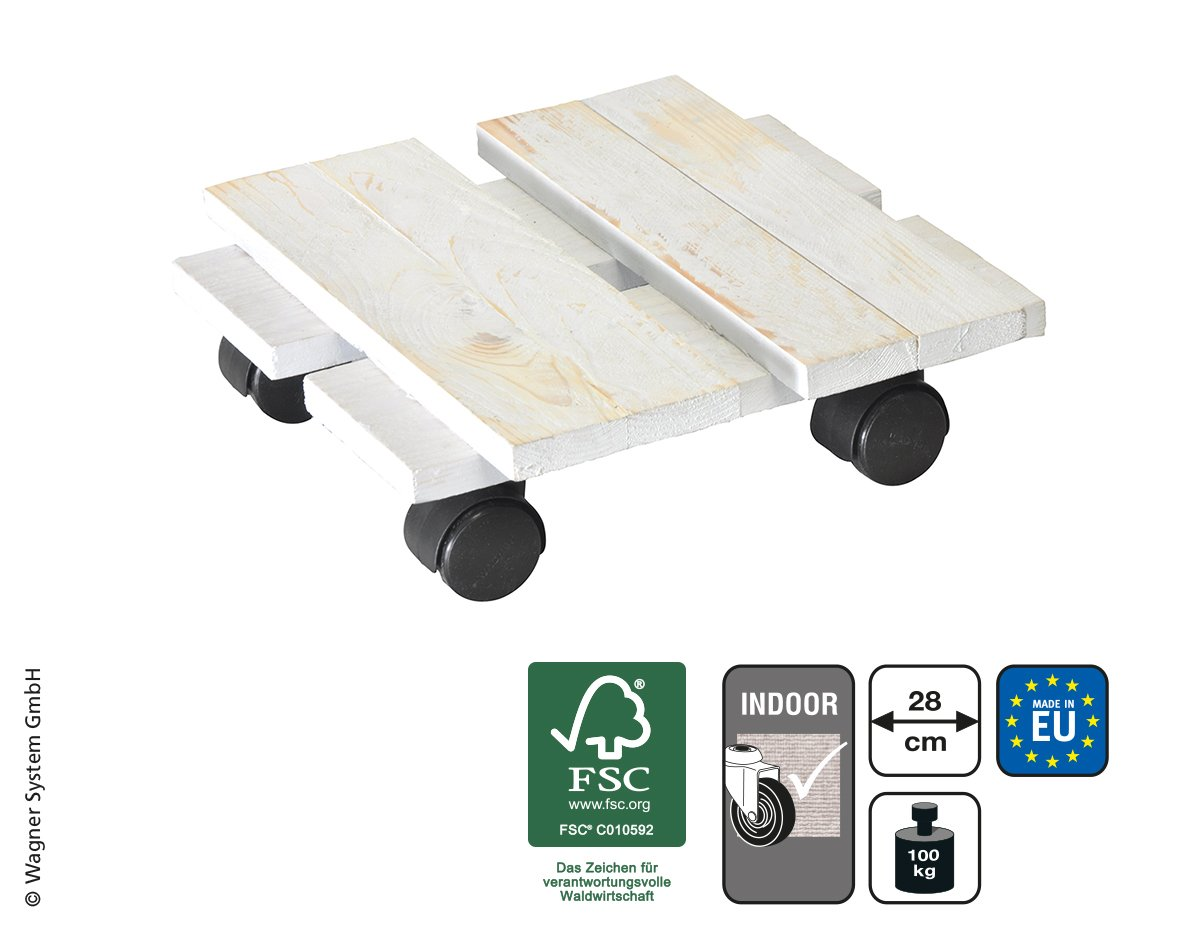 Wagner System 20085601 Multi-Roller Loft Gardening Wagon, White