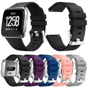 Para Fitbit Versa Cambio pulsera, S/M, de silicona de repuesto de ...