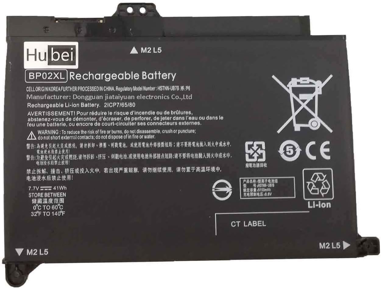 BP02XL Laptop Battery for HP Pavilion PC 15 15-AU 849909-850 (F9-21) 15-AU010WM 15-AU018WM 849569-421 Series HSTNN-LB7H BP02041XL HSTNN-UB7B 849569-541 849909-850 TPN-Q175 TPN-Q172(7.7V 41Wh 5150mAh)
