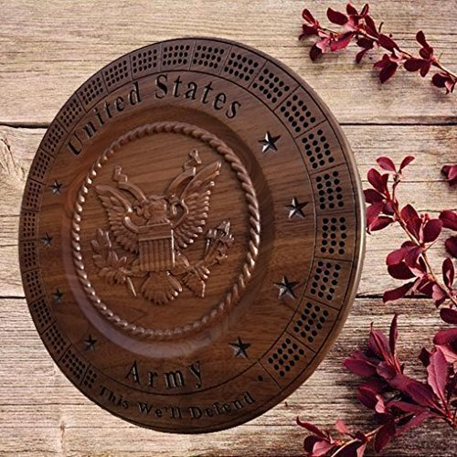 Personalized Army veteran military Award Engraved retirement gift carved wooden Wall clock service award plaque wood 5th anniversary gift.