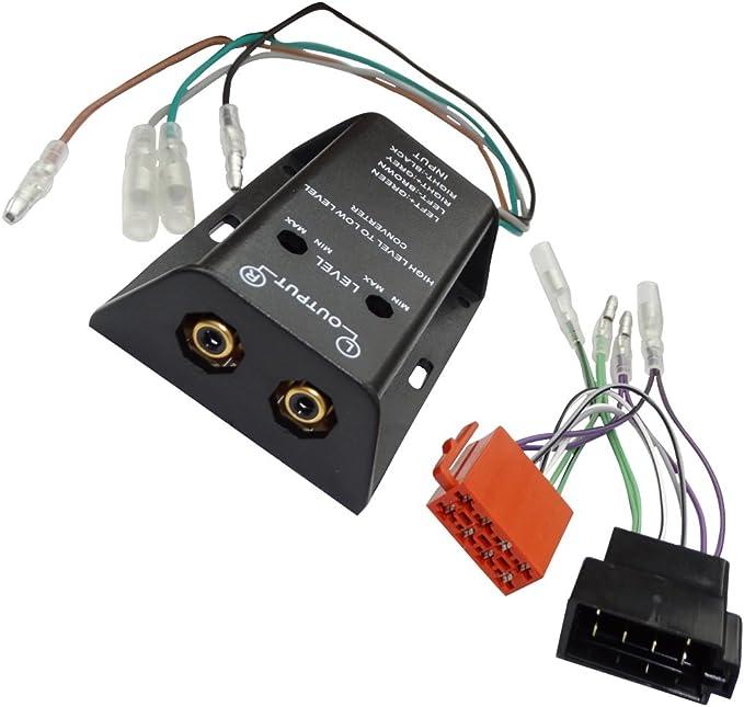 Aerzetix Adapter Kabelbaum Kabel Iso Cinch Für Verstärker Amplifacteur Autoradio C16578 Auto