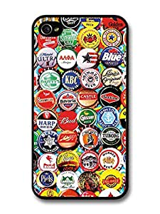 Stickerbomb Beer Caps Collage Collection Sticker Bomb case for iPhone 4 4S